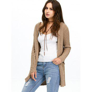Hooded Ribbed Cardigan