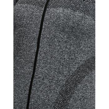 Quick Dry Zipper Work Out Running Jacket - GRAY M