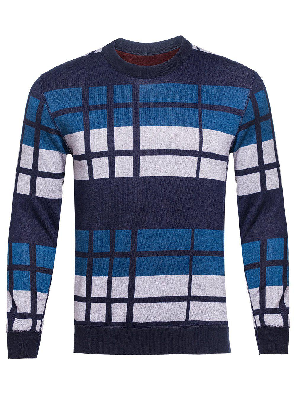Vertical Striped Color Block Crew Neck Knitting Sweater процессор intel core i5 8600k 3 6ghz
