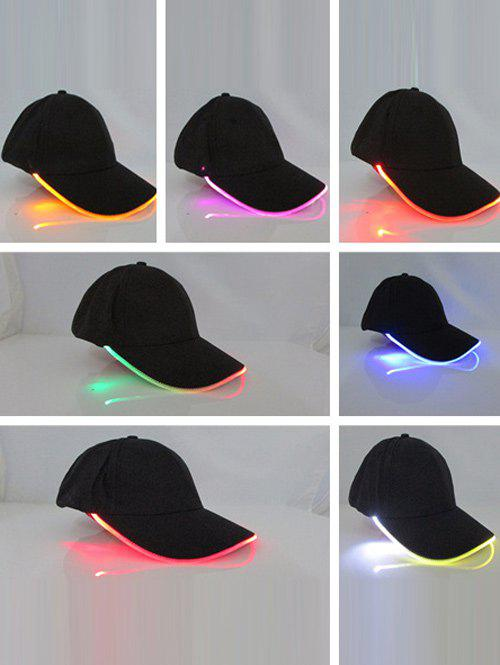 Sport Club Party Lighted LED Flashing Baseball Cap - BLACK