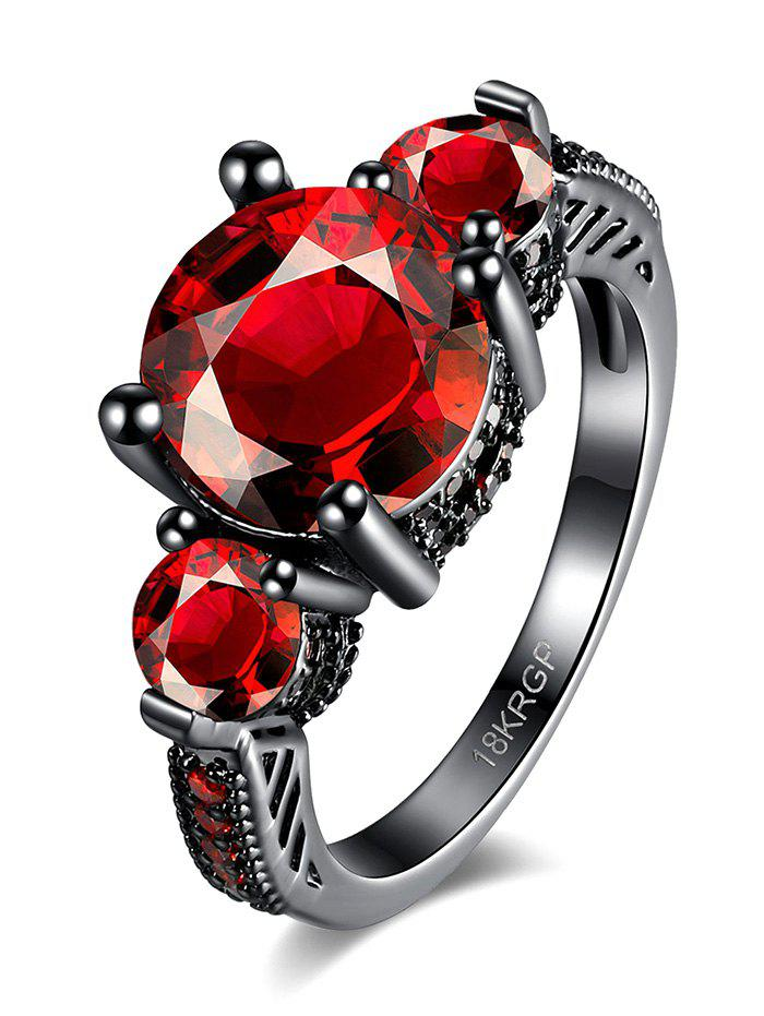 Vintage Artificial Gemstone Ring - RED 7