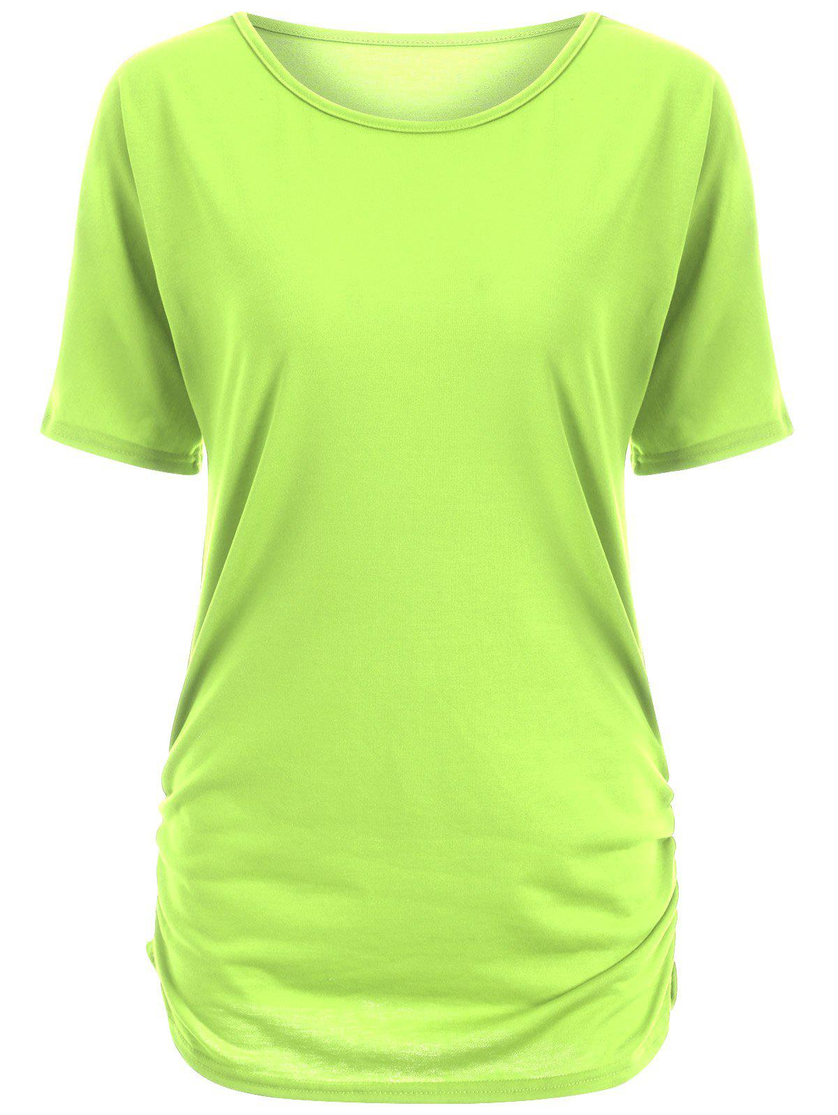 Candy color ruched tee neon green s in tees t shirts for Neon colored t shirts wholesale