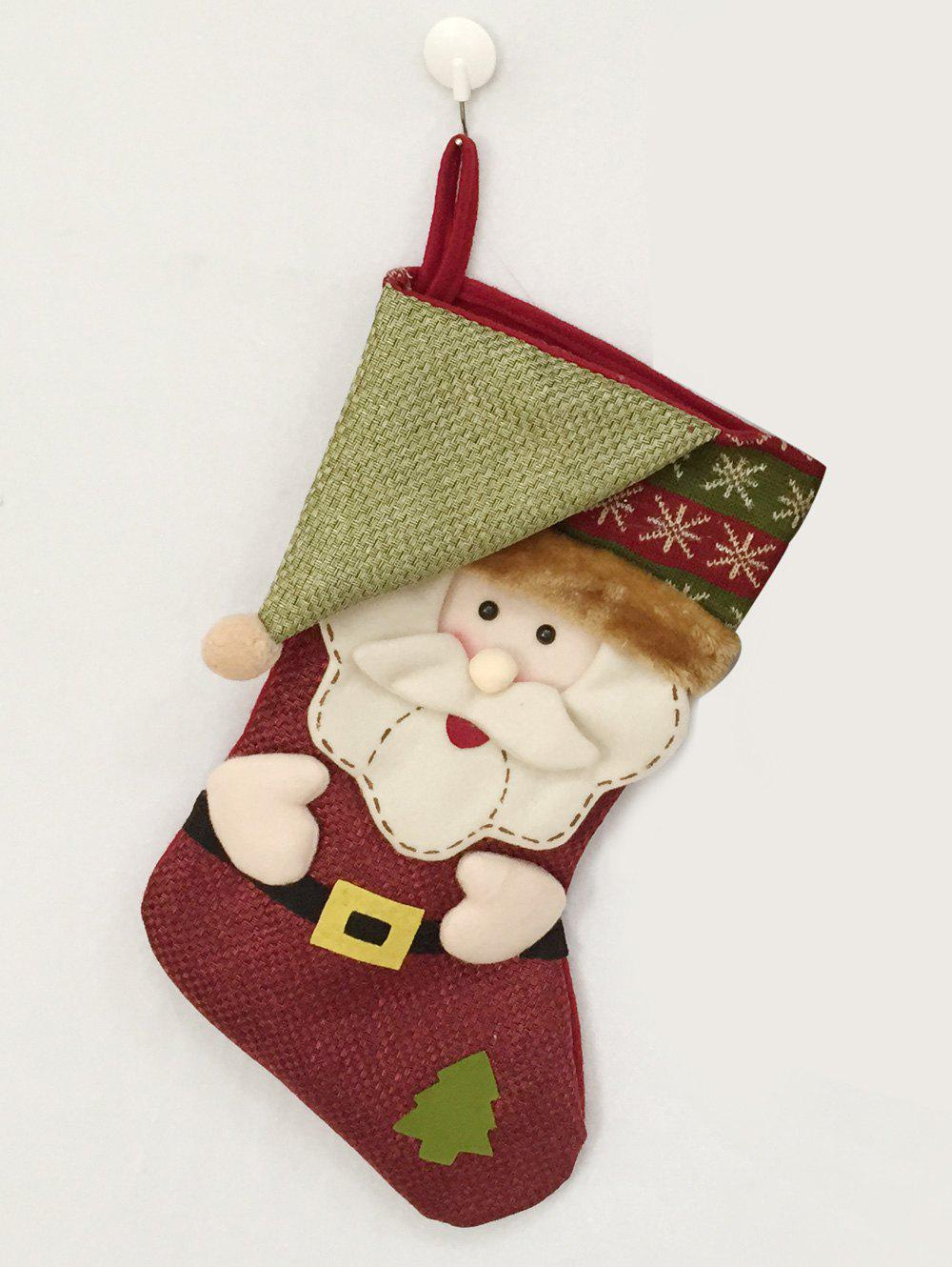Christmas Decor Santa Pattern Kids Present Sock - COLORMIX