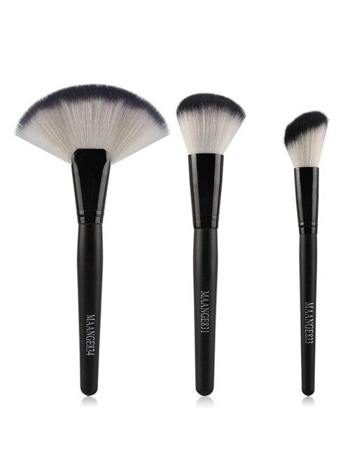 3 Pcs Face Nylon Makeup Brushes Set pro 15pcs tz makeup brushes set powder foundation blush eyeshadow eyebrow face brush pincel maquiagem cosmetics kits with bag
