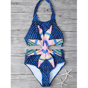 Cut Out Halter Swimsuit