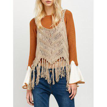 Fringed Crochet Tank Top