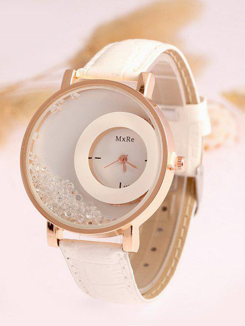 Drift Sand Faux Leather Watch - WHITE