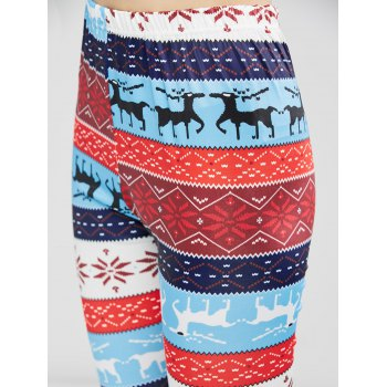 Christmas Fawn Print Leggings - LITTLE FAWN L