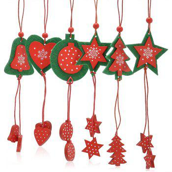 Christmas Tree Decoration 12PCS Hanging Pendants - RED RED