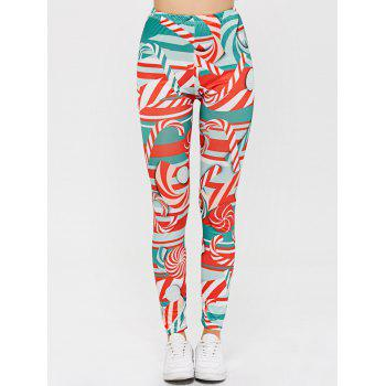 High Waisted Candy Cane Skinny Leg Pants