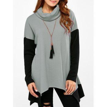 Drop Shoulder Asymmetrical Tee
