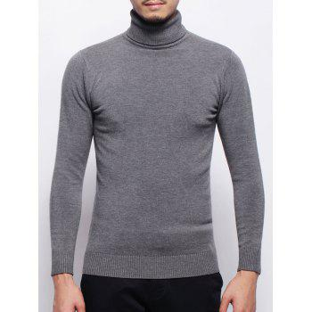 Roll Neck Pullover Stretchy Sweater