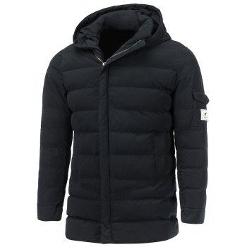Pocket Design Hooded Zip Up Padded Coat
