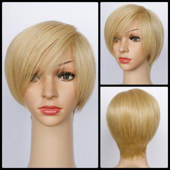Sparkling Straight Short Side Bang Synthetic Wig