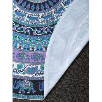 Ethnic Style Printed Circle Beach Throw - PURPLISH BLUE PURPLISH BLUE
