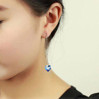 Fake Crystal Ocean Heart Drop Earrings
