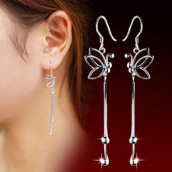 Hollowed Butterfly Drop Earrings