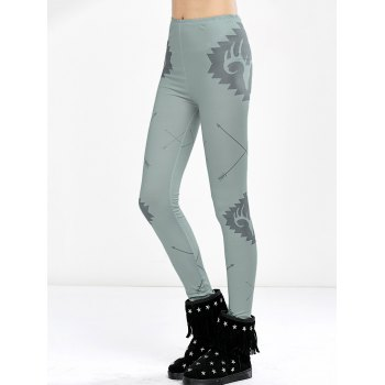 Elk Print High Waist Christmas Tight Leggings