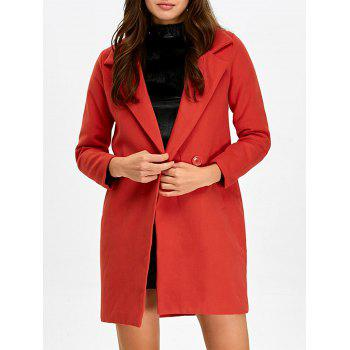Lapel Double Breasted Pocket Coat