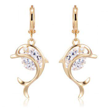 Rhinestone Dolphin Shape Earrings