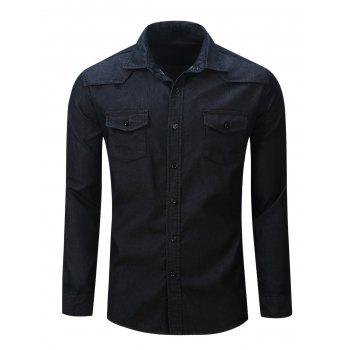 Button Up Chest Pocket Denim Shirt