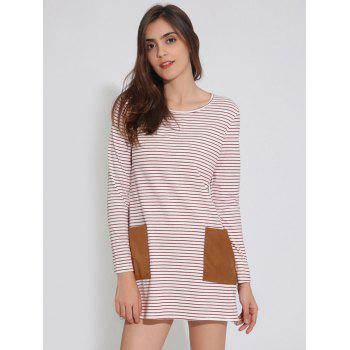 Long Sleeve T-Shirt Tunic Shift Striped Dress