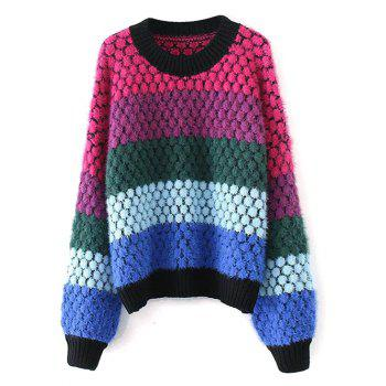 Color Block Pullover Knit Sweater