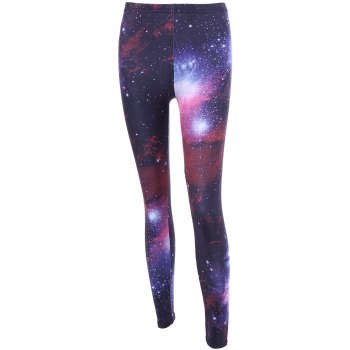 3D Galaxy Print High Waist Leggings