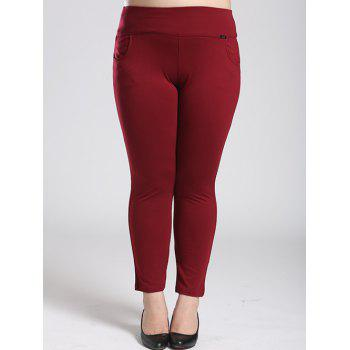 Fleece Stretchy Elastic Waist Skinny Pants