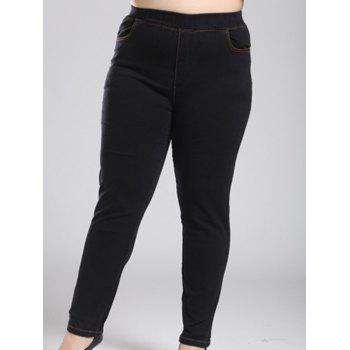 Plus Size Fleece Stretchy Skinny Pants
