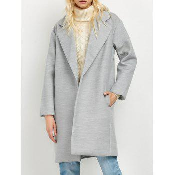 Lapel Pockets Wool Blend Coat