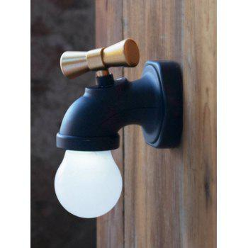 Creative Faucet Sound Controller LED Night Light - BLACK