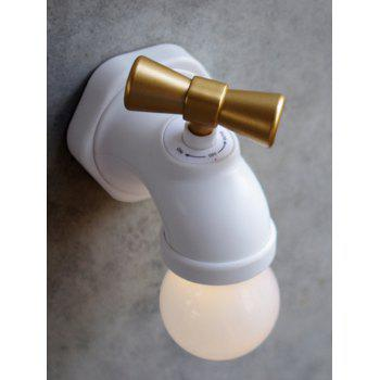 Creative Faucet Sound Controller LED Night Light - WHITE