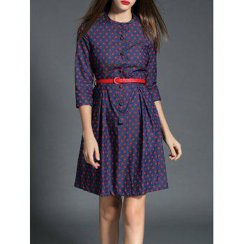 Vintage Polka Dot Buttoned Dress
