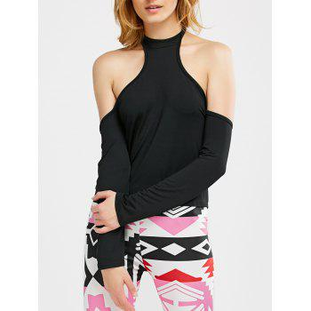 Cold Shoulder Halter T-Shirt