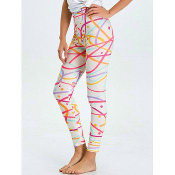 High Waist Skinny Graphic Leggings