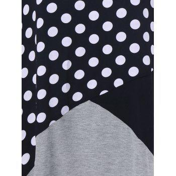 Plus Size Polka Dot Trim T-Shirt - COLORMIX 4XL