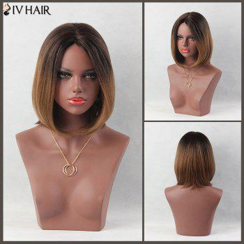 Side Parting Short Colormix Straight Bob Siv Human Hair Wig - COLORMIX COLORMIX