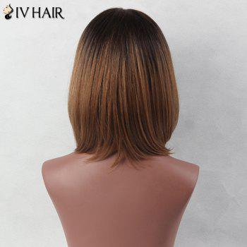 Side Parting Short Colormix Straight Bob Siv Human Hair Wig -  COLORMIX