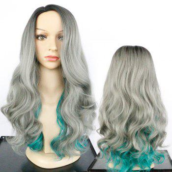 Side Parting Long Fluffy Colormix Wavy Synthetic Wig - COLORMIX COLORMIX
