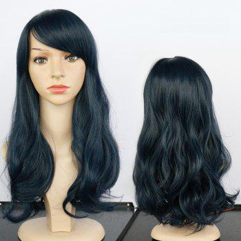 Side Bang Long Fluffy Wavy Synthetic Wig