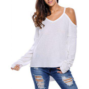 Cold Shoulder Asymmetric Sweater