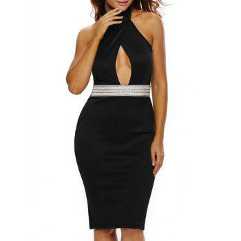 Halter Cut Out Backless Bodycon Dress