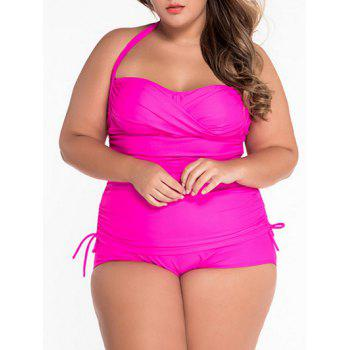 Halter Ruched Plus Size Tankini
