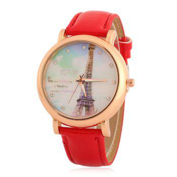 Eiffel Tower Rhinestone Quartz Watch