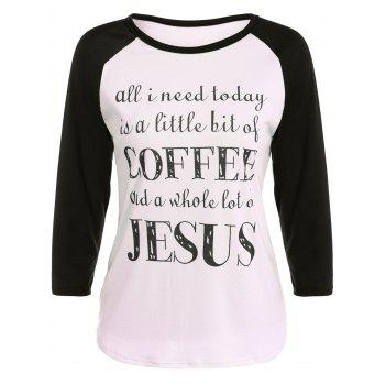 Graphic Printed Raglan Sleeve T-Shirt