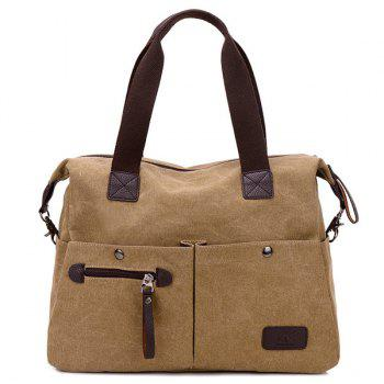 Canvas Multi Pocket Large Tote Bag
