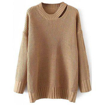 Round Neck Cut Out Sweater