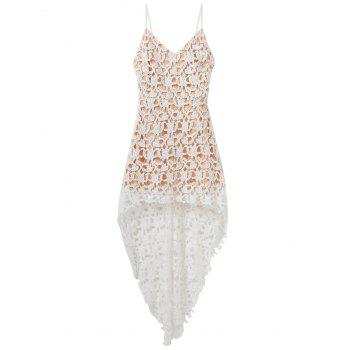 High Low Crochet Lace Dress