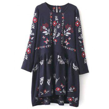 Floral Embroidered Shapeless Dress